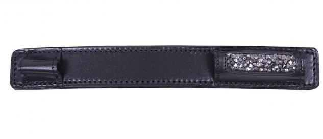 QHP Sporenschutz Lupine Leder mit Strass zum Schutz Ihrer Stiefel 2 Farben