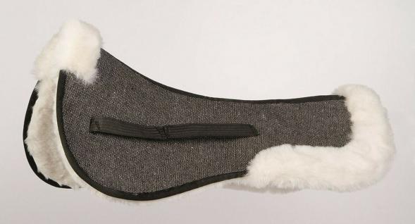 Harry's Horse Sattelunterlage faux fur schwarz. 30 mm hochdichtes Kunstfell