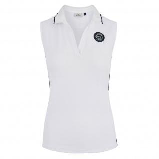 HV POLO Damen Polo-Shirt Janice ärmellos Prints + gewebtes Badge Sommer 2019