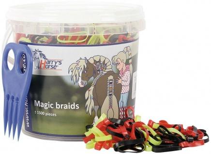 Harry's Horse Mähnengummi Mähnengummis ca. 1.500 Stück im Eimer viele Farben