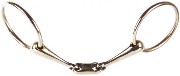 Harry's Horse Wassertrense Gold doppelt gebrochen O-Link Stärke 20 mm div.Größen