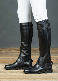 Harry's Horse Chaps Minichaps Connect schwarz elast. Reißverschluss div Größen