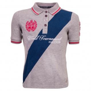 BR Mädchen Poloshirt BR Polo Society Victoria Gr. 140 + 164 Kontrastdrucke