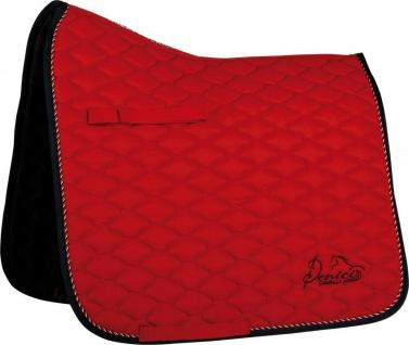 Harry's Horse Schabracke Denici Cavalli Red 2 Zierkordeln Logo-Stickerei
