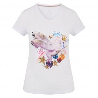 Imperial Riding Damen T-Shirt Emotions glitzernder Einhorn-Print Sommer 2019