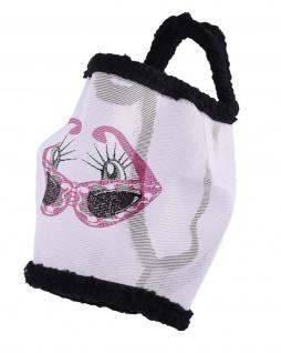 QHP Fliegenschutzmaske Funny ohne Ohren Fliegenschutz Kopf lustiger Print