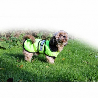 QHP Hundemantel Reflektion neongelb Hund waschbar Fleecefutter div. Größen