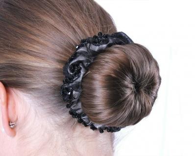QHP Knotenband Sparkle Haarband Haargummi mit glänzenden Perlen 2 Farben