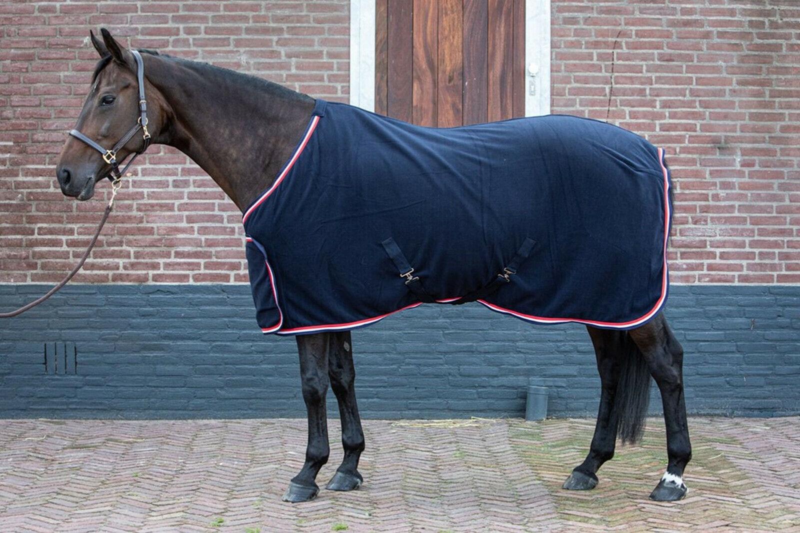 Harry/'s Horse Fleecedecke Prunkmodell navy Frontverschluss Kreuzgurte