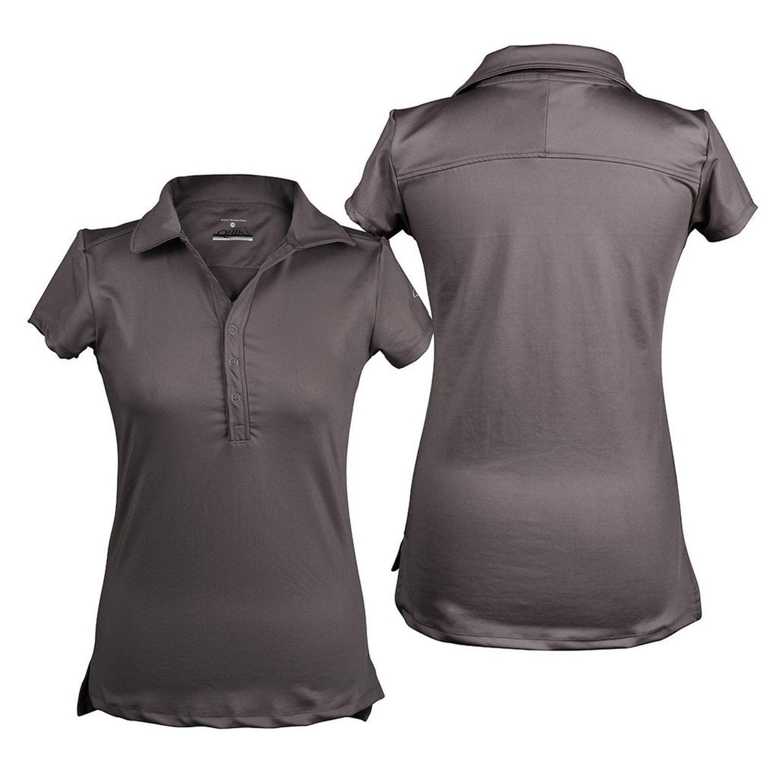 2811df0dec1186 QHP Damen Polo-Shirt Luna kurzarm Kragen Basismodell Anthrazit ...