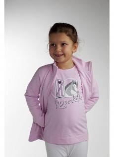 It. Designer Kinder Shirt Jersey Baumwolle rosa süßes Motiv Lovestable Logostick