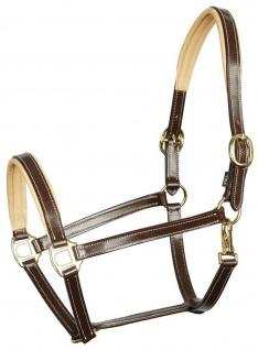 Harry's Horse Lederhalfter Halfter Elegance 2fach verstellbar Kontrastpolster