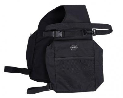 QHP Satteltasche mit Reißverschluss und Tasche vorne mit Schlaufen zu befestigen