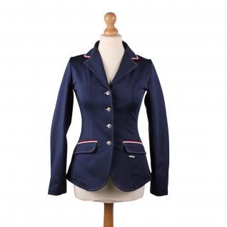 QHP Damen Turniersakko Turnierjacket Coco Adult Softshell Farbdetail Strass navy