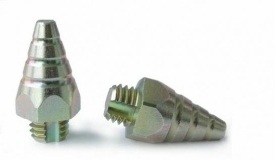 Hepp Stollen Type 11 Langer Spitzkegelstollen. Höhe ca. 28 mm. SW17. 8 Stollen