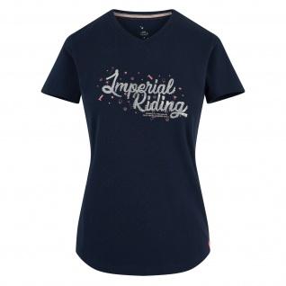 Imperial Riding Damen T-Shirt Sweet V-Ausschnitt glänzende Verzierung