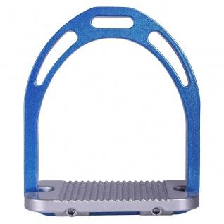 QHP Steigbügel Aluminium zweifarbig Metallic breite Trittfläche Metallprofil