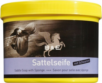 17.00 EUR/l B&E Sattelseife Paste mit Schwamm Lederreinigung 500 ml Dose