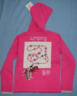 It. Designer Kinder Sweatjacke Kapuze Jumping Collection Stick Parcours+Logo