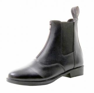 QHP Reitstiefeletten Stiefeletten Jodhpur Manilla Junior Leder schwarz Gr 26-35