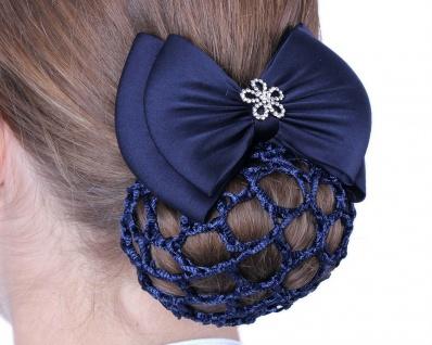 QHP Haarschleife Classy Haarspange mit Schleife und Strass 2 Farben