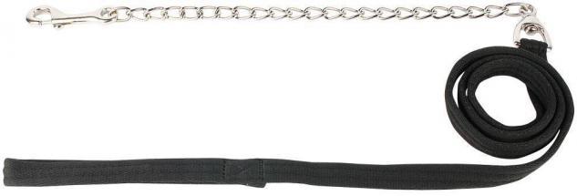 Harry's Horse Führstrick Anbindestrick mit Kette schwarz / silber Karabiner