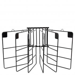 Premiere Deckenhalter für 6 Decken schwarz Metall drehbare Bügel Wandhalter