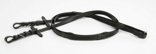 Harry's Horse Lederzügel Softleder Sensitive mit Stoppern schwarz