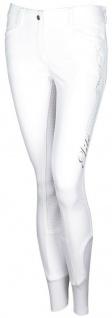 Harry's Horse Damen Reithose Elite Full Grip silberf. Print+Kristalle weiss G 42