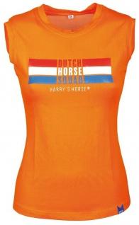 Harry's Horse Damen Tanktop Dutch Orange großer Print vorne Netzeinsatz hinten