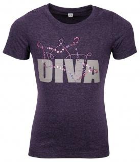 Harry's Horse Kinder T-Shirt Diva Purple großer Diva-Print auf der Brust