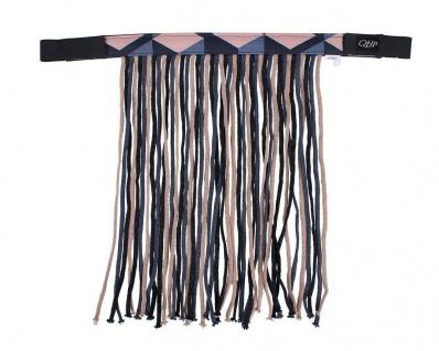 QHP Fliegenfransen mit Klettverschluss Stirnband mit dekorativem Muster