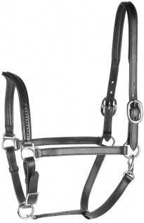 Harry's Horse Lederhalfter Halfter Crystal V mit Strass 3fach verstellbar Pony