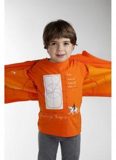 It. Designer Kinder Shirt Jersey Baumwolle Print Dressurfeld+Gangarten Logostick