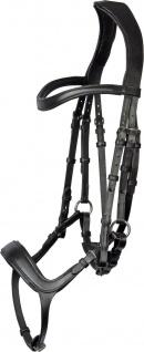 Harry's Horse Trense Comfort Leder mit spezieller. anatomische Formung Schwarz