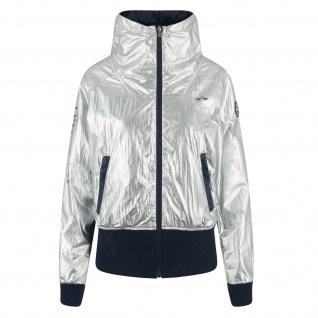 HV Polo Damen-Jacke Silver RV höherer Kragen schwarze Bündchen Logodetails