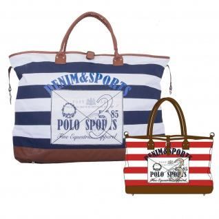 HV POLO Canvas Bag Kendall sportliche Tasche mit Prints und Logo