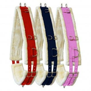 """Longiergurt """" Gorgeous Colour"""" Nylon mit weichem Teddyfleece zahlreiche Ringe"""
