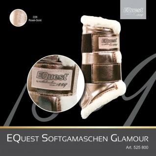EQuest Soft Gamaschen Glamour Kunstleder Weblammfell Klettverschlüsse