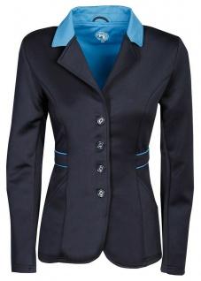 Harry's Horse Damen Turnierjacket Contrast Softshell-Stretch Kragen navy-blau
