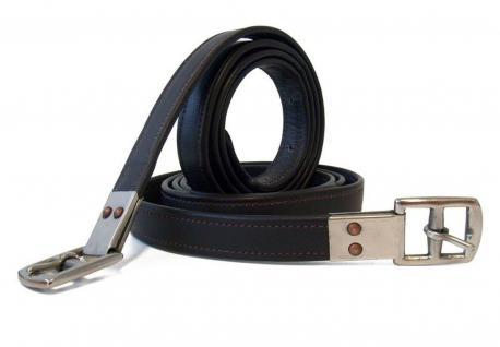QHP Steigbügelriemen Extra Stark aus Leder mit Edelstahl-Schnallen 3 Größen