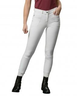PresTeq Damen Reithose AmbitionFirst Vollbesatz 4-Way-Stretch-Material Weiß