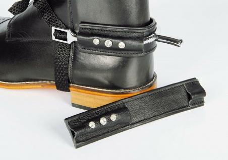 Harry's Horse Sporenschutz Leder Crystal zum Schutz Ihrer Stiefel mit Kristallen
