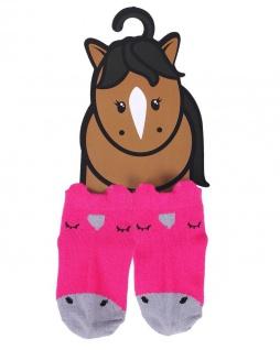 QHP Baby-Socken Mickey 6-12 Monate Nylon Lieferung mit Geschenkanhänger