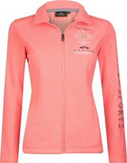 HV Polo Damen Fleece Jacke Quant Kragen Stickereien Gr. M = 38