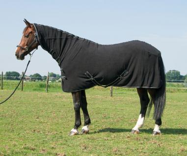 Harry's Horse Fleecedecke mit Halsteil Frontverschluss abnehmbare Kreuzgurte