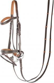 Harry's Horse Schwedische Trense Soft Leder weich unterlegt braun + schwarz