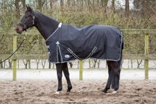 Harry's Horse Regendecke schwarz 0g Füll. wasserdicht 600D Gehfalte atmungsaktiv