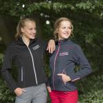 QHP Damen Softshell Jacke wasserdicht mit Kontrast-Details und -Nähten