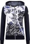HV Polo Damen Sweat Jacke Cardigan Lindsey Kapuze Fotoprint mit Perlen 2 Farben
